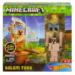 Hot Wheels Minecraft Golem Toss Play Set