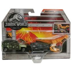 Jurassic World Matchbox Dino Transporters Tyranno-Hauler Vehicle and Figure