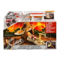 Jurassic World Matchbox Island Escape Portable Playset