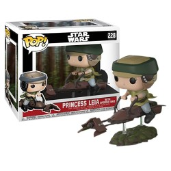 Funko Pop Deluxe 228: Star Wars - Princess Leia With Speeder Bike