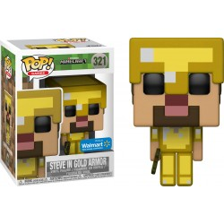 Funko Pop! Games 321: Minecraft - Steve In Gold Armor (Exclusive)