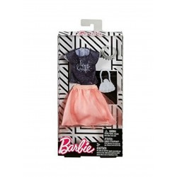 Barbie Grey Top/Orange Skirt Fashion