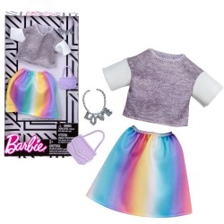 Barbie T-Shirt & Skirt Colorful Fashion