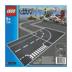 LEGO City 7281 T-junction & Curve