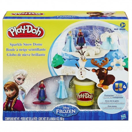 Play Doh Sparkle Snow Dome