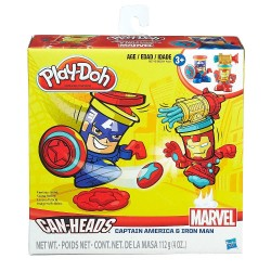 Play-Doh Marvel Can-Heads Iron Man & Captain America