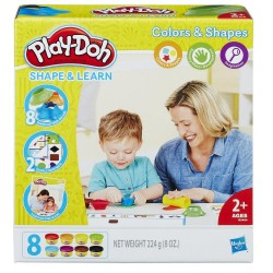 Play-Doh Shape and Learn Colors and Shape