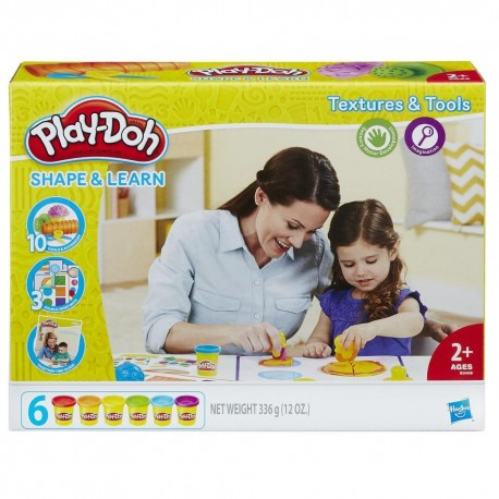 Play-Doh Shape and Learn Texture and Tools