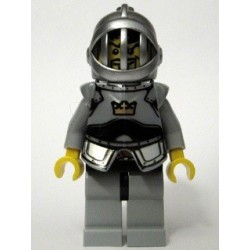 Fantasy Era - Crown Knight Scale Mail with Crown, Breastplate, Grille Helmet, Curly Eyebrows and Goatee
