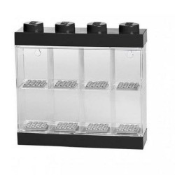 LEGO Minifigure Display Case 8 (Black)