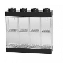 LEGO Minifigure Display Case 8 (Black)