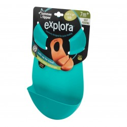 Tommee Tippee Explora Roll And Go Bib (Blue)