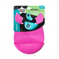 Tommee Tippee Explora Roll And Go Bib (Pink)