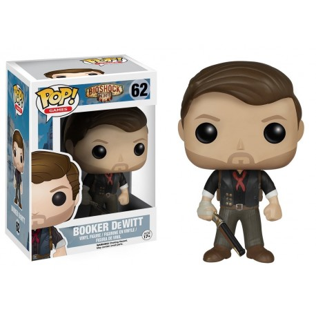 Funko Pop! Games 64: Bioshock - Booker Dewitt With Skyhook