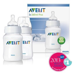 Philips AVENT Twin Pack PP Bottle (260ml)