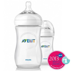 Philips AVENT Twin Pack Natural Bottle (260ml)