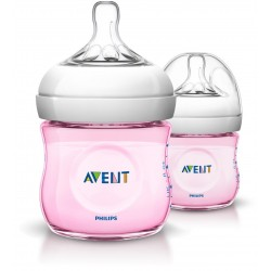 Philips AVENT Pink Twin Pack Natural Bottle (125ml)