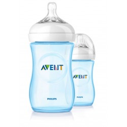 Philips AVENT Blue Twin Pack Natural Bottle (260ml)