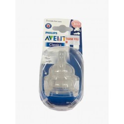 Philips AVENT Twin Pack Silicone Teats (3 Months)