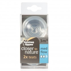Tommee Tippee Closer To Nature 2X Teat Medium Flow