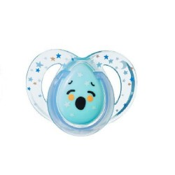 Tommee Tippee Closer to Nature Night Time Soother 6-18 Months - Blue (1 Pack)