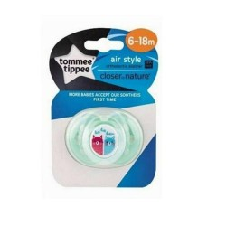 Tommee Tippee Closer to Nature Air Soother 6-18 Months - Green (1 Pack)