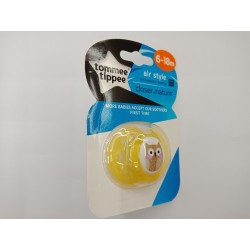 Tommee Tippee Closer to Nature Air Soother 6-18 Months - Yellow (1 Pack)