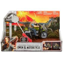 Jurassic World Rip-Run Dinos Owen & Motorcycle