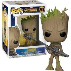 Funko Pop! Marvel 293: Avengers Infinity War - Teen Groot with Gun