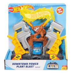 Hot Wheels City Downtown Power Plant Blast Playset