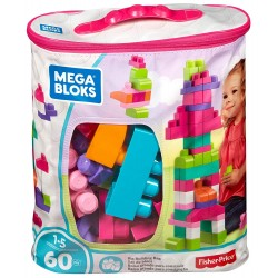 Mega Bloks First Builders Big Building Bag (Pink) - 60pcs