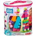 Mega Bloks First Builders Big Building Bag (Pink) - 60pcs