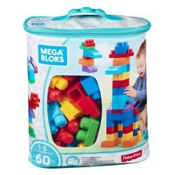 Mega Bloks First Builders Big Building Bag (Blue) - 60pcs