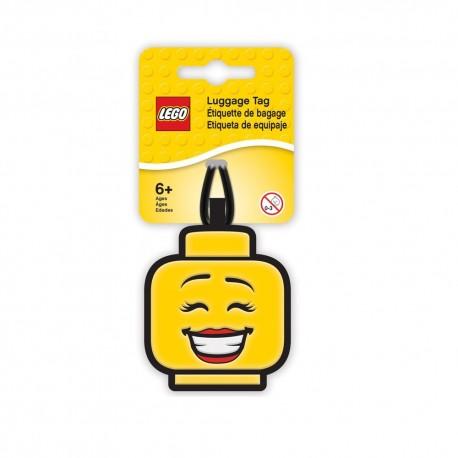 LEGO Iconic Girl Face Luggage Tag