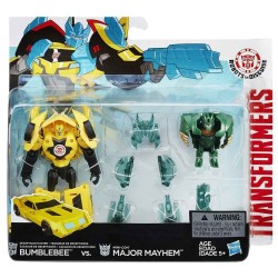 Transformers Robots in Disguise Minicons Combat set Bumblebee vs Major Mayhem