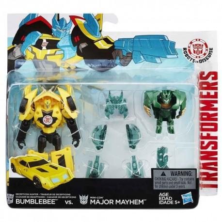 Transformers Robots in Disguise Minicons Combat set Bumblebee vs Major Mayhem