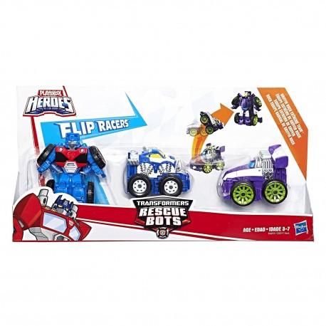 Playskool Heroes Transformers Rescue Bots Flip Racers Griffin Rock Extream Team