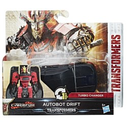 Transformers The Last Knight 1-Step Turbo Changer Cyberfire Autobot Drift