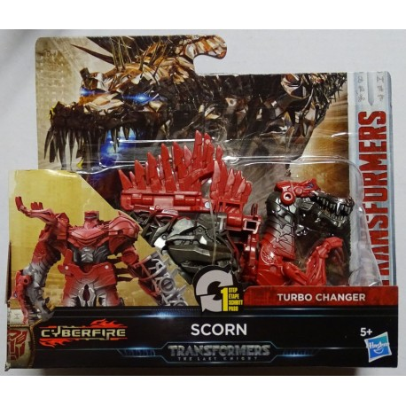 Transformers The Last Knight 1-Step Turbo Changer Cyberfire Scorn
