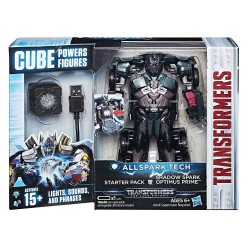 Transformers Allspark Tech Starter Pack Shadow Spark Optimus Prime - Black