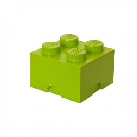 LEGO Storage Brick 4 Knobs - Light Green