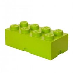 LEGO Storage Brick 8 Knobs - Light Green