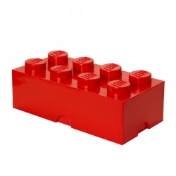 LEGO Storage Brick 8 Knobs - Red