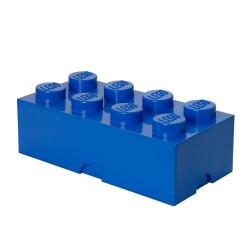 LEGO Storage Brick 8 Knobs - Blue