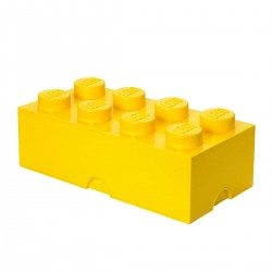 LEGO Storage Brick 8 Knobs - Yellow