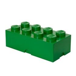 LEGO Storage Brick 8 Knobs - Dark Green