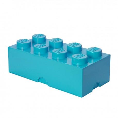 LEGO Storage Brick 8 Knobs - Medium Azur (Blue)