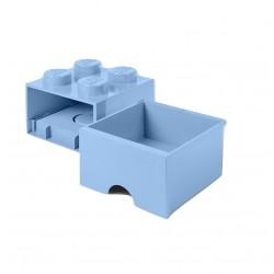 LEGO Brick Drawer 4 Knobs (1 Drawer) - Light Royal Blue