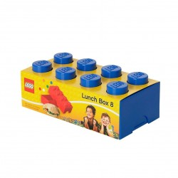 LEGO Lunch Box 8 Knobs - Blue