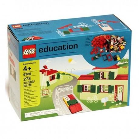 LEGO Education 9386 Doors, Windows & Roof Tiles Set